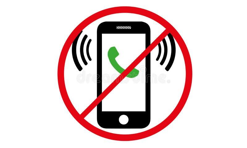 Fuori dal commutatore mobile del segno fuori dal simbolo di pericolo del cellulare dell'icona del telefono illustrazione di stock