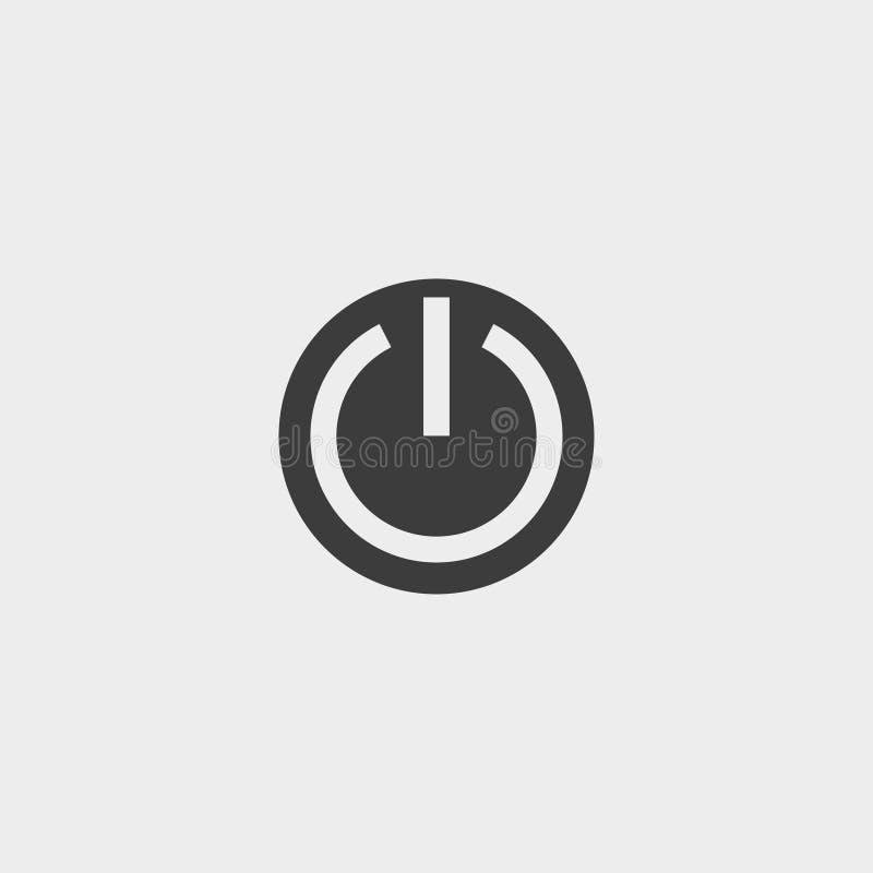 Fuori dall'icona in una progettazione piana nel colore nero Illustrazione EPS10 di vettore royalty illustrazione gratis
