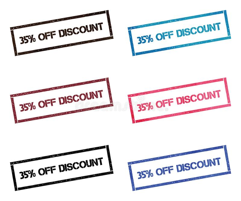 35% fuori dalla raccolta di bollo rettangolare di sconto royalty illustrazione gratis