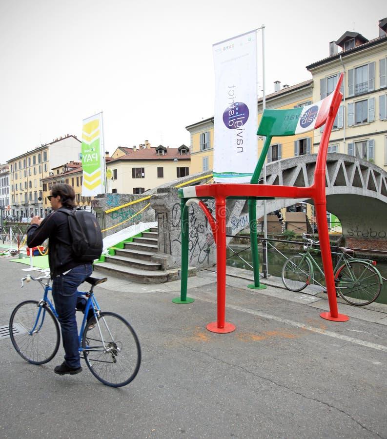 Fuorisalone At Navigli Design District Editorial Stock Image
