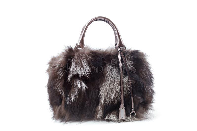 Fur bag stock photo