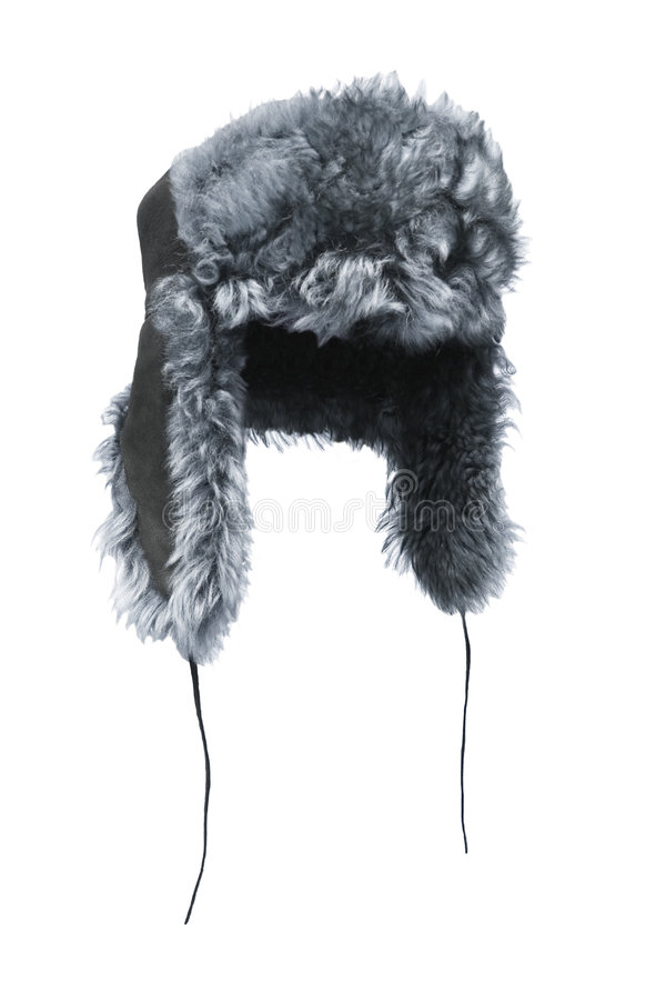 Fur-cap. Nice cold protection: fur-cap royalty free stock photography