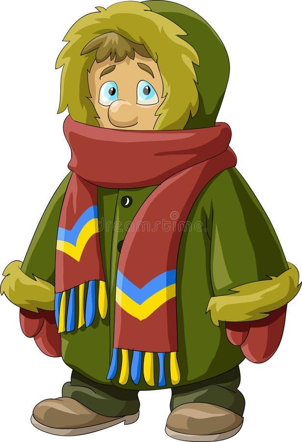 Download Fur coat stock vector. Illustration of hood, child, winter - 16080293