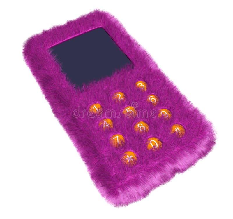 Fur phone royalty free stock image