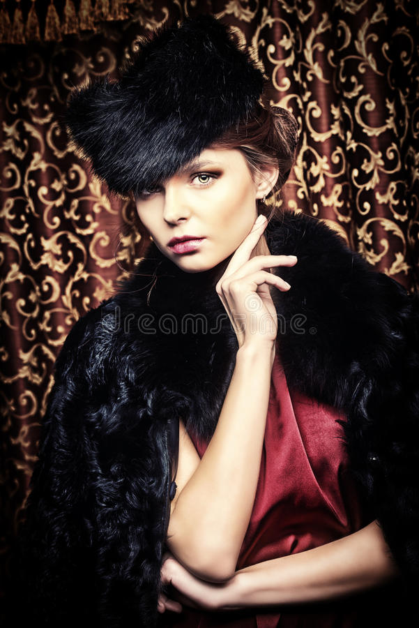 Fur style royalty free stock images