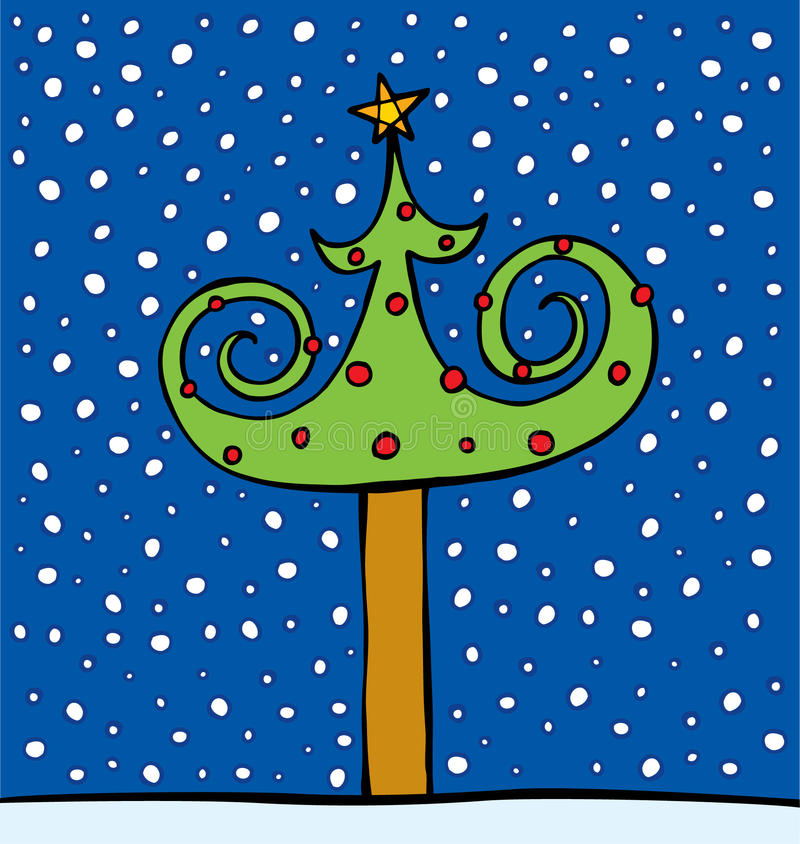 Fur-tree Decorated By Spheres And A Star Royalty Free Stock Photography