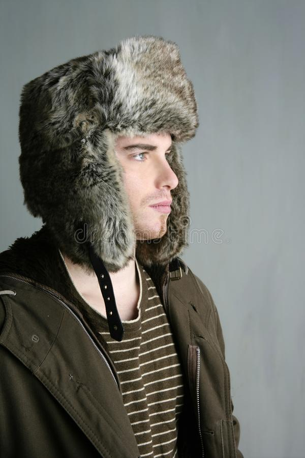 Download Fur Winter Fashion Hat Young Man Brown Autumn Stock Photo - Image: 13980008