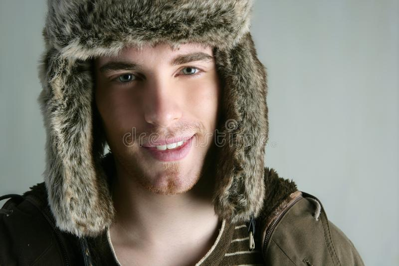 Download Fur Winter Fashion Hat Young Man Brown Autumn Stock Images - Image: 14634414