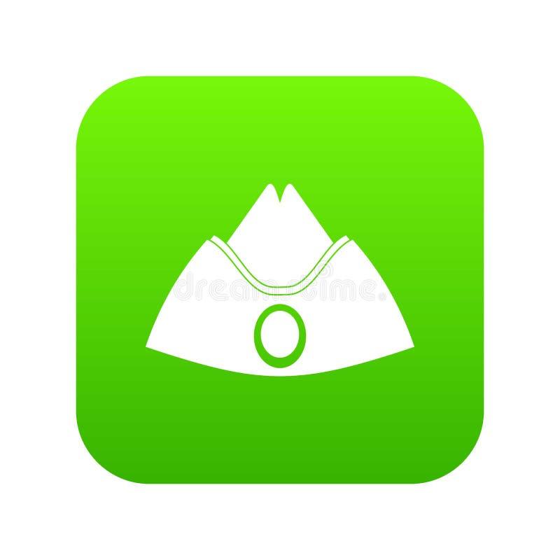 Furażuje nakrętki ikony cyfrową zieleń royalty ilustracja