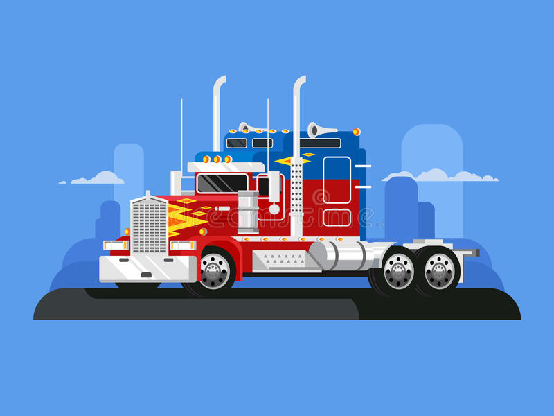 Fura lastbilsförare vektor illustrationer