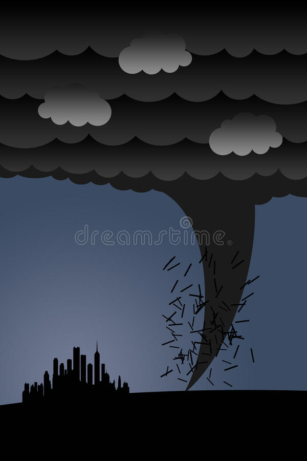 Furacão ilustração do vetor