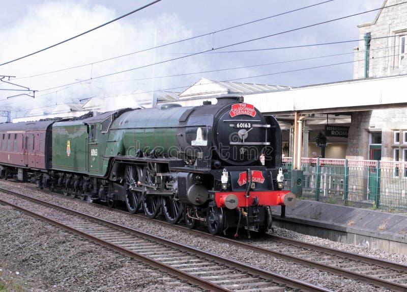 Furacão caledoniano em Carnforth, Lancashire, Reino Unido. fotos de stock royalty free