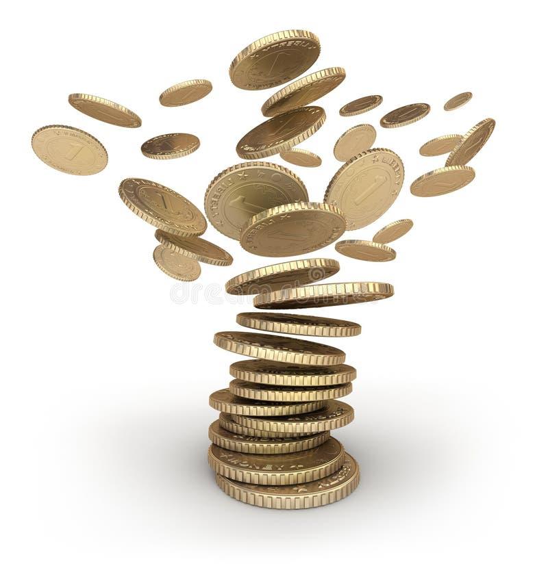 Furacão das moedas ilustração do vetor