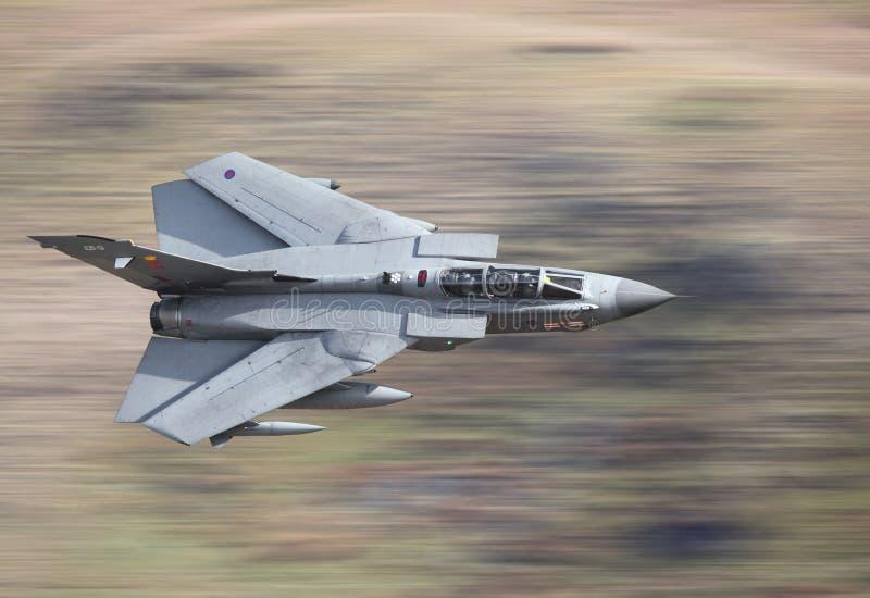 Furacão do avião de combate foto de stock