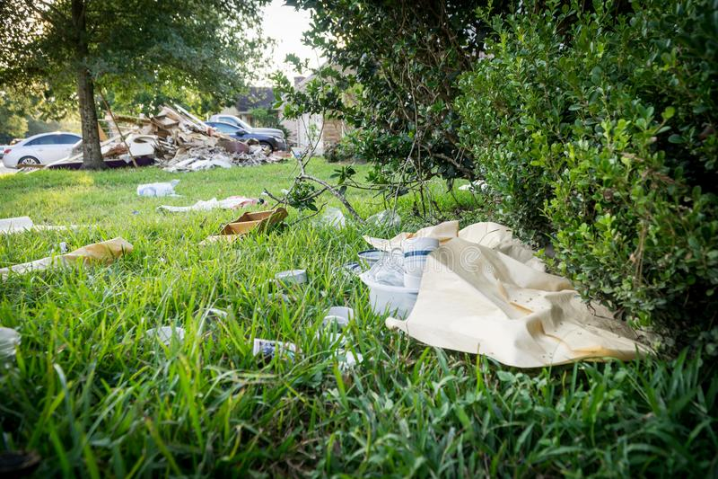 Furacão Harvey Aftermath imagem de stock