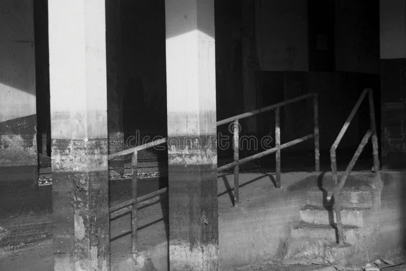 Furacão Katrina, hospital abandonado imagens de stock royalty free