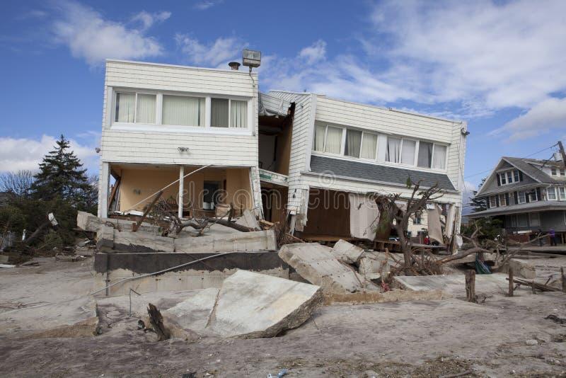 Furacão Sandy das consequências fotografia de stock