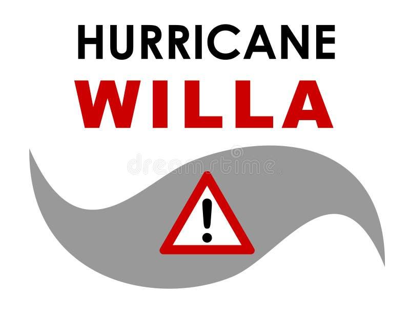 Furacão Willa Graphic imagens de stock