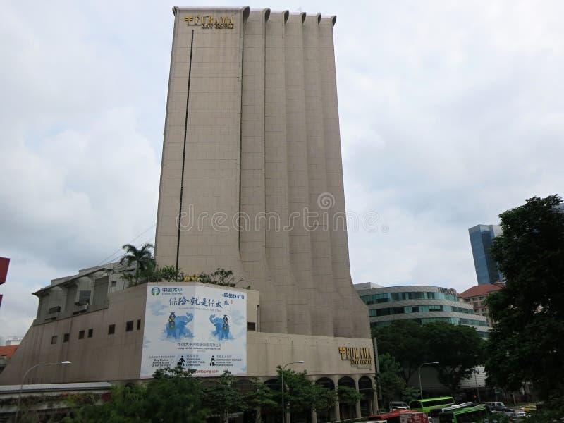 Furama city center. Modern high-rise buildings. Architecture and art in modern civilization. stock photo