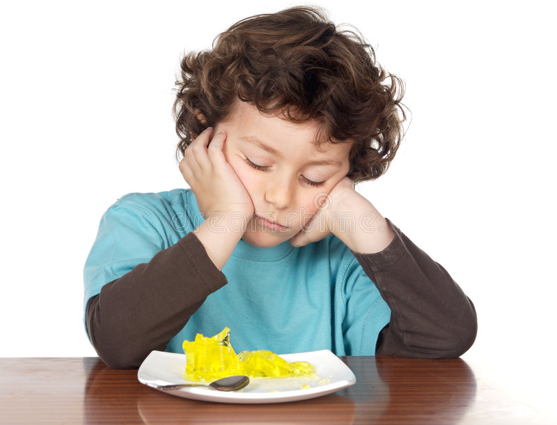 Furar comer da criança imagens de stock