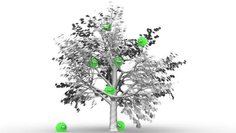 Furbul Tree Hugger 2 Royalty Free Stock Photos