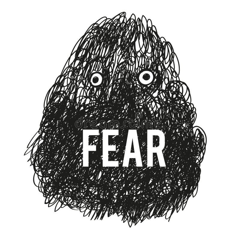 Furchtmonsterillustration - Vektor lizenzfreie stockbilder