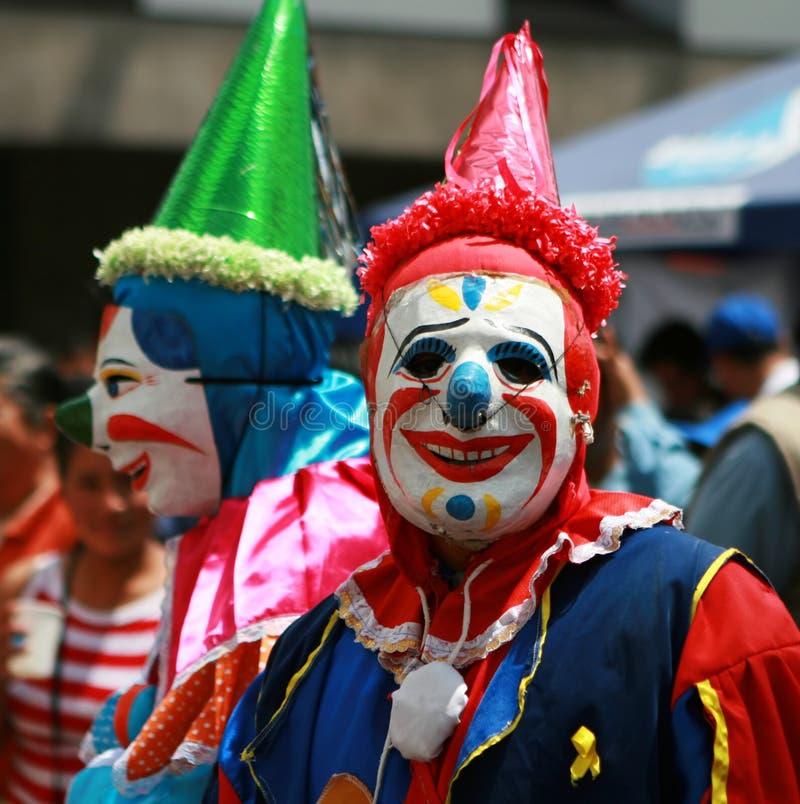 Furchtsame Clowne stockfotos