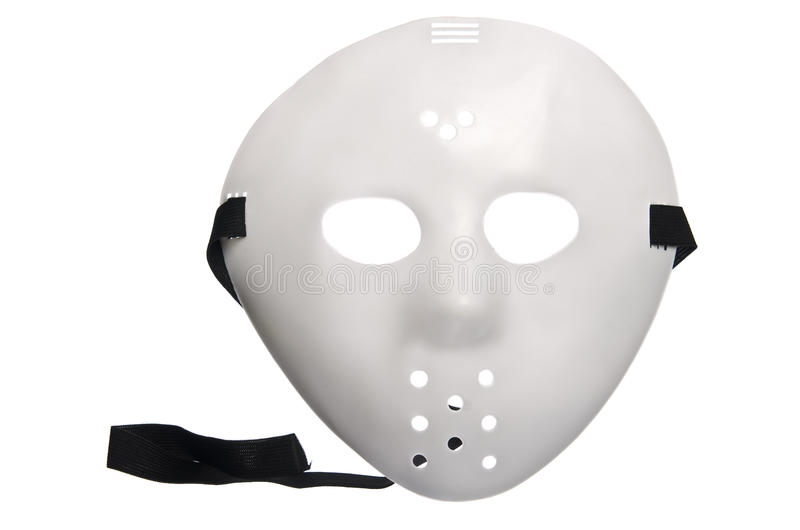 Furchtsame Halloween-Hockey-Maske stockfoto