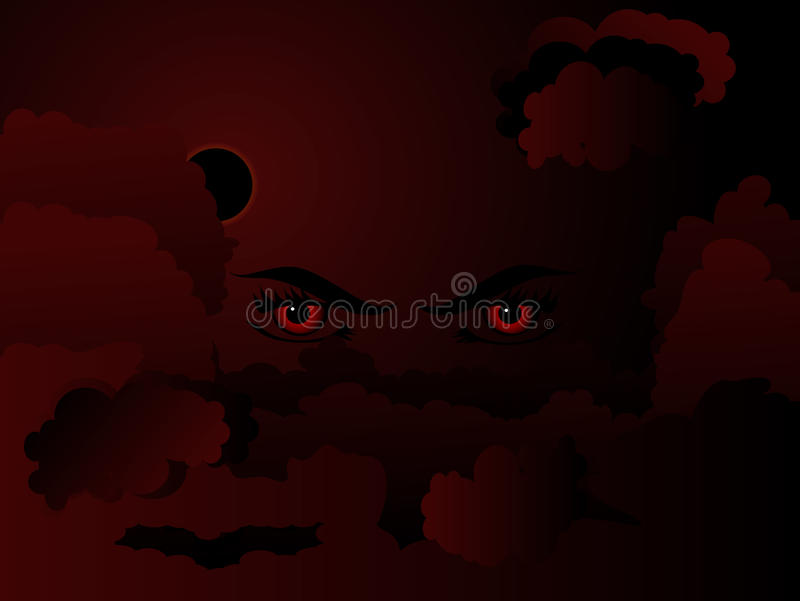 Furchtsame Nacht lizenzfreie abbildung