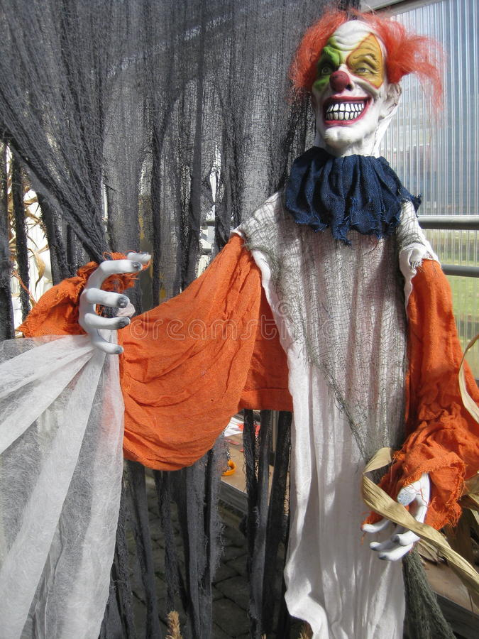 Furchtsamer Clown 2 stockfotos