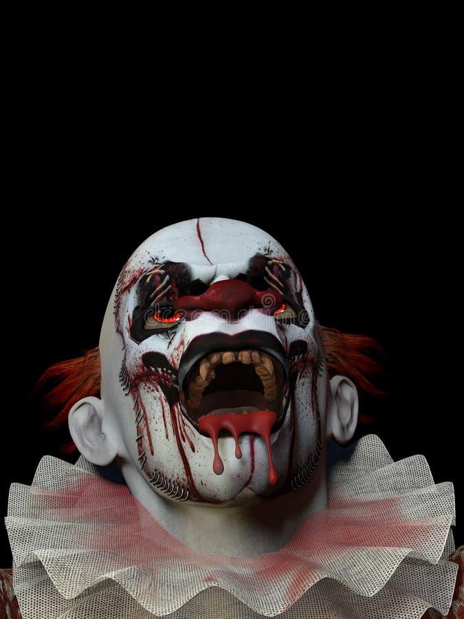 Furchtsamer Clown 3 stockbilder