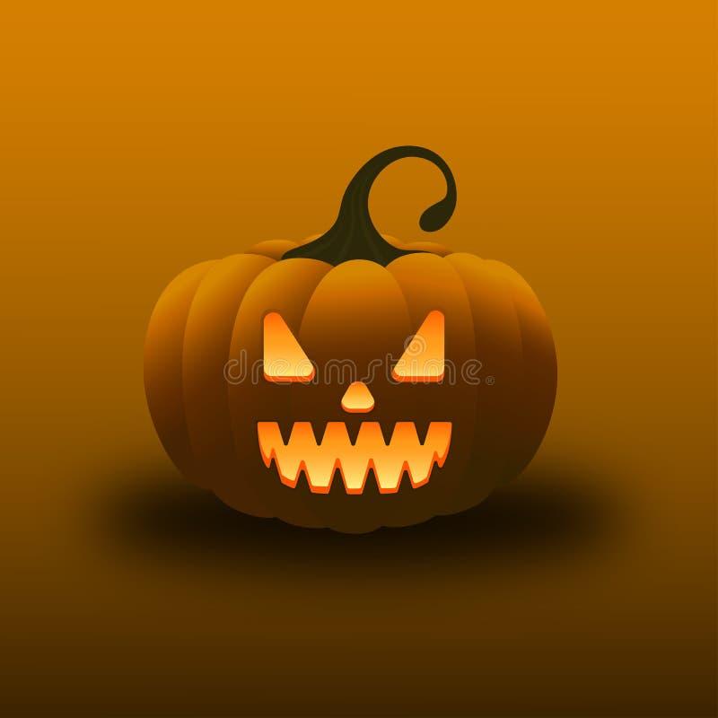 Furchtsamer gespenstischer glücklicher Halloween-Kürbis lizenzfreies stockfoto