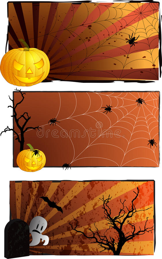 Furchtsamer Halloween-Hintergrund vektor abbildung