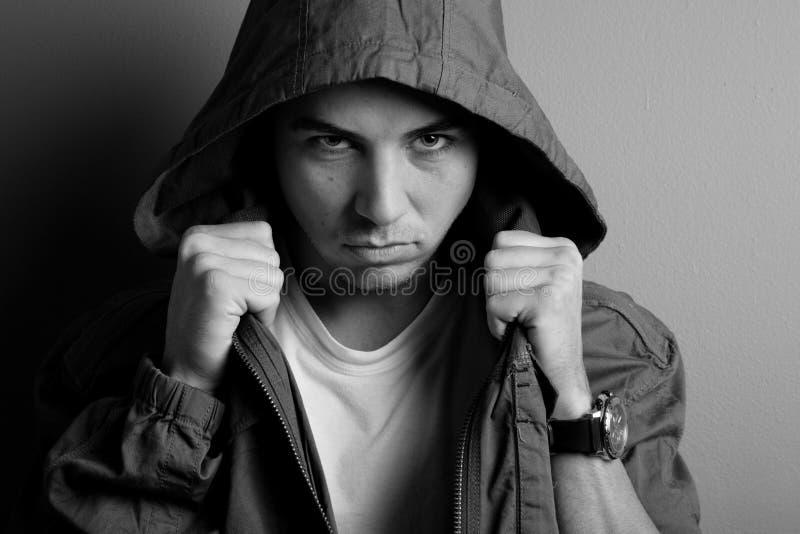 Furchtsamer Kerl lizenzfreies stockfoto