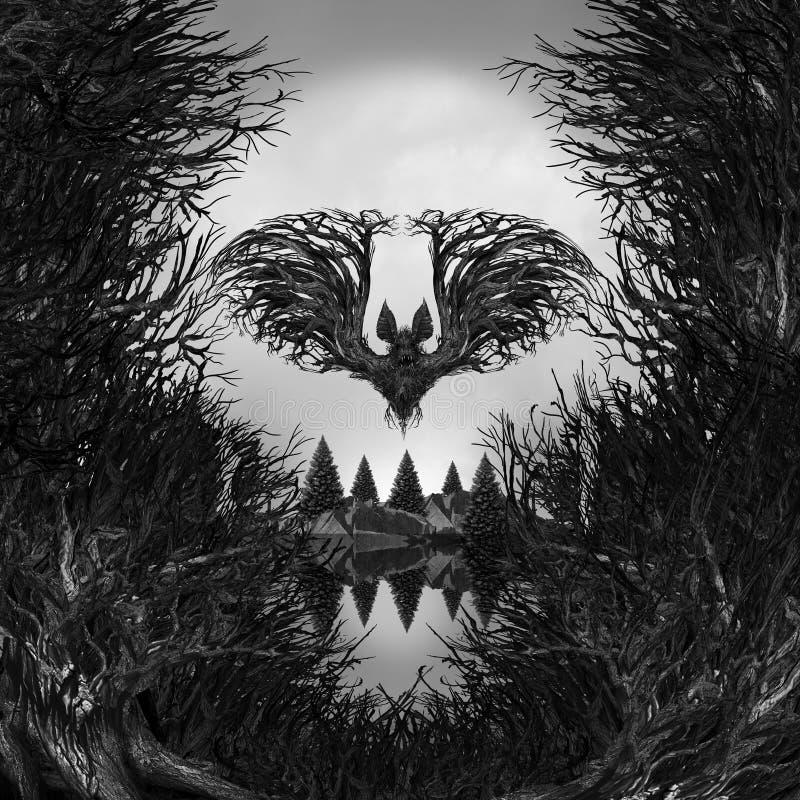 Furchtsamer Schädel-Hintergrund lizenzfreie abbildung