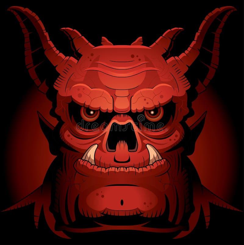 Furchtsamer schlechter Dämon vektor abbildung