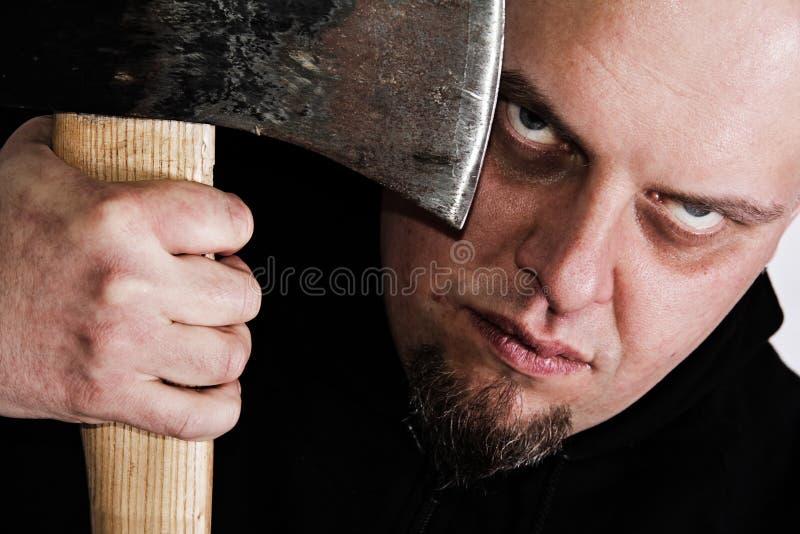 Furchtsames Anstarren vom Mörder lizenzfreies stockfoto