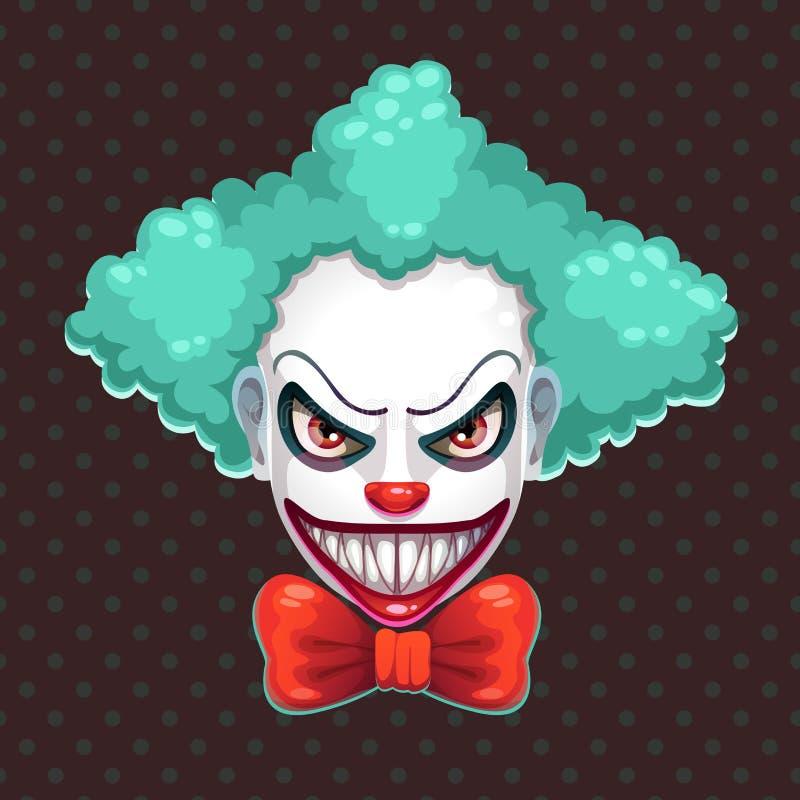 Furchtsames Clowngesicht vektor abbildung