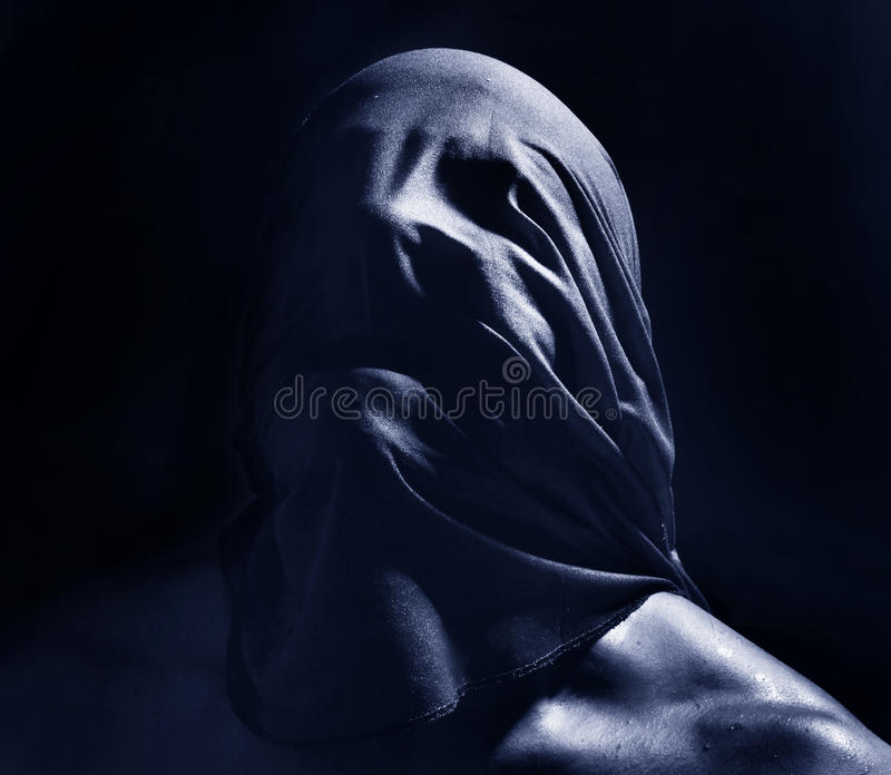 Furchtsames dunkles Porträt lizenzfreie stockfotografie