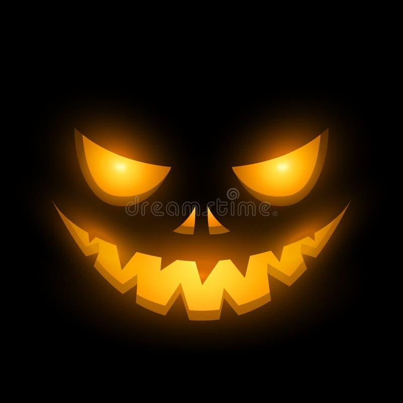 Furchtsames Gesicht Halloweens lizenzfreie abbildung