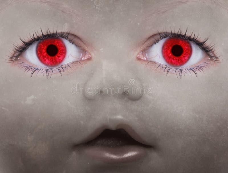 Furchtsames Puppegesicht lizenzfreies stockfoto