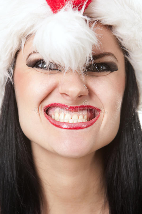 Furchtsames Sankt-Mädchen lizenzfreie stockfotografie