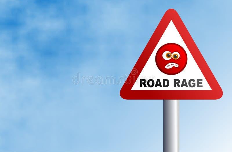 Fureur de route illustration stock