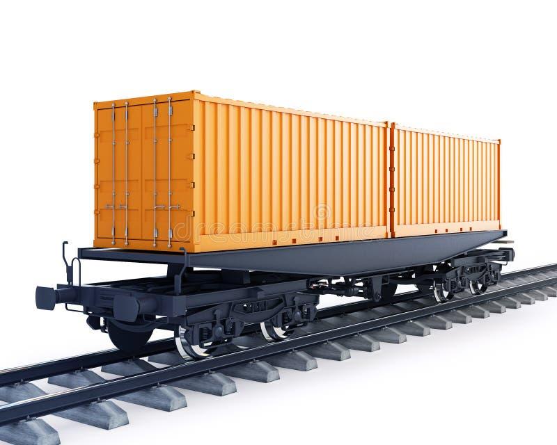 Furgon pociąg towarowy ilustracji