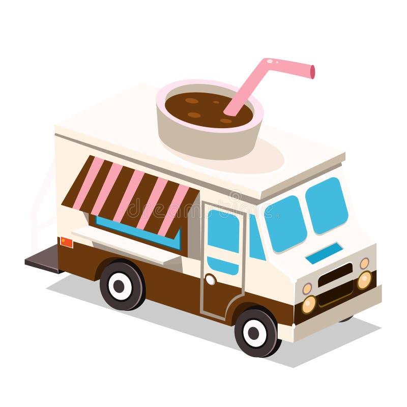 Furgone del caffè del camion illustrazione vettoriale