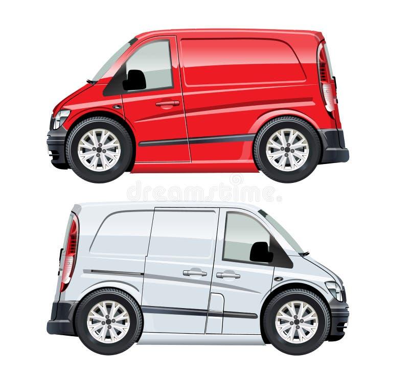 Furgone del fumetto di vettore illustrazione vettoriale