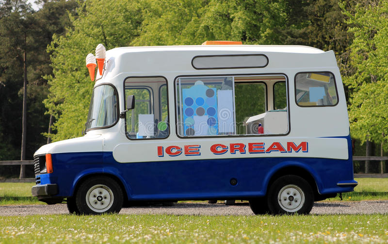 Furgone del gelato fotografia stock
