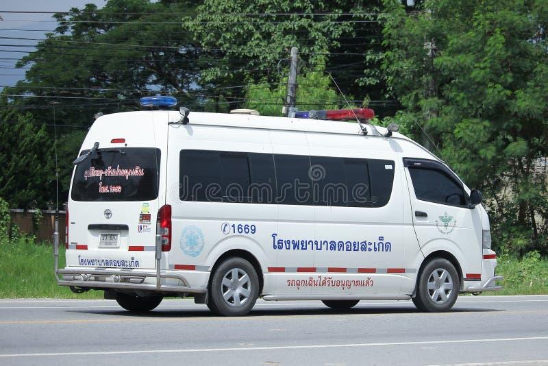 Furgone dell'ambulanza dell'ospedale di Doisaket immagine stock libera da diritti