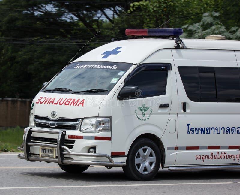 Furgone dell'ambulanza dell'ospedale di Doisaket fotografia stock libera da diritti