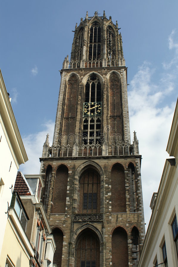 Furgone Utrecht dei DOM fotografia stock libera da diritti